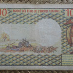 Gabón 10.000 francos 1978 (168x94mm) pk.5b reverso