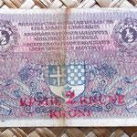 Reino de Serbia, Croacia y Eslovenia 0,50 dinar 2 coronas 1919 anverso
