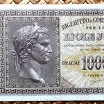 Grecia Islas Jónicas ocupac. italiana WWII  1000 dracmas 1942 (150x80mm) anverso