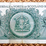 Escocia Clydesdale and North of Scotland Bank 20 libras 1960 reverso