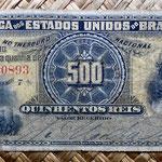 Brasil 500 reis 1893 (140x64mm) anverso