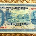 Colombia 1 peso oro 1953 anverso
