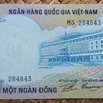 Vietnam del Sur 1000 dong 1972 (152x76mm) pk.34a anverso