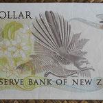 Nueva Zelanda 1 dollar 1981-85 pk.169a reverso