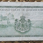 Luxemburgo 10 francos 1954 (130x70mm) pk.48a reverso