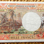 Polinesia francesa 1000 francos 1996  anverso