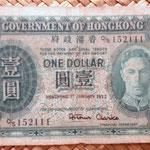 Hongkong dolar 1952 Jorge VI anverso