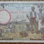 Argelia y Túnez 1000 francos 1946 (194x130mm) pk.26 anverso
