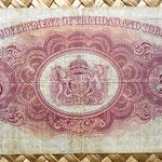 Trinidad y Tobago 5 dollar 1939 reverso