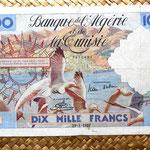 Argelia francesa 10000 francos 1957 anverso