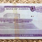 Zambia 20 kwacha 1969 reverso