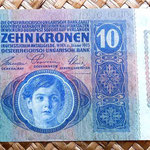 Imperio Austrohúngaro 10 coronas 1915 anverso