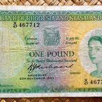 Rodesia y Nyasalandia 1 pound 1960 anverso