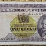 Nueva Zelanda 1 pound 1956-67 (154x82mm) pk.159d anverso