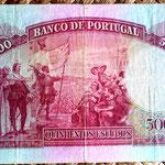 Portugal 500 escudos 1952 reverso