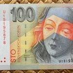 Eslovaquia 100 korun 2001 anverso