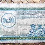 Francia 0.50 francos 1923 -Régie des Chemins de Fer des Territoires Occupés-rev erso