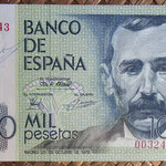 1.000 pesetas 1979 sin serie y firmado a mano por el Cajero D. Jesús Urdiola