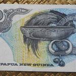 Papua Nueva Guinea 10 kinas 1985 (150x75mm) pk.7 reverso
