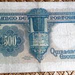 Portugal 500 escudos 1942 reverso