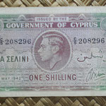 Chipre 1 shilling 1942 (116x64mm) pk.20 anverso