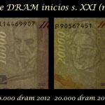 Armenia 1ª serie Dram s.XXI -2001-2012 marcas de agua
