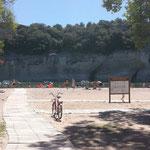 Accès en caillebottis - Plage du Grain de sel à St-Martin-d'Ardèche