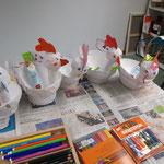 Hühner im AtelierMo Kinderkurs
