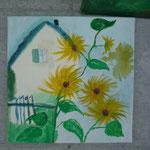 AtelierMo Workshop Sonnenblumenhaus (neue Teilnehmerin 1. Bild)