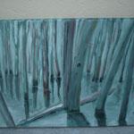 AtelierMo Impression des Saarkohlenwaldes ( Arbeit einer Teilnehmerin )