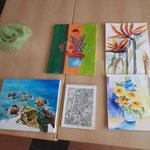 Aquarelle von Teilnehmerinnen