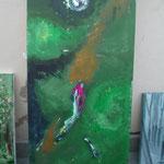 AtelierMo Workshop Abstrakte Gedankenwelt  ( Arbeit einer Teilnehmerin )