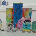 Kindermalkurs AtelierMo Papiermännchen