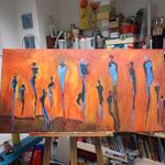abstrakte Arbeit einer Teilnehmerin