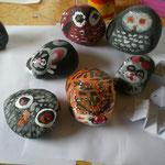 Steintiere im Kinderkurs AtelierMo