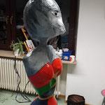 Katzennana aus Pappmaché im Workshop AtelierMo entstanden