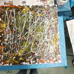 Experimentelles Acrylbild von Kursteilnehmer