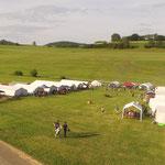 Das Zeltlager von oben  (Bild: Jens Geschke)