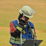 Gruppenführer S-O 42 bei der Atemschutzüberwachung