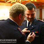 BM Sebastian Bertelmann wird mit dem Ehrenzeichen in Silber des Kreisfeuerwehrverbandes für 20 Dienstjahre ausgezeichnet