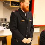 Kommandant Ulrich Zepf hält seine kurze Ansprache.