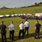 Ansprache der Lagerleitung an die Teilnehmer  (Bild: Jens Geschke)