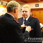 OFM Manuel Bauer wird mit dem Ehrenzeichen in Bronze des Kreisfeuerwehrverbandes für 10 Dienstjahre ausgezeichnet