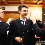 Kai Fuchs wird zum Oberfeuerwehrmann befördert