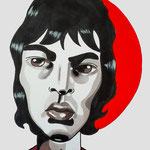 BritPop Wawe, The Verve, Acrylic & marker On Paper, (18x13 cm).