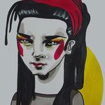 Be A Boy, Acrylic & marker On Paper, (18x13 cm).