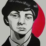Paul, Acrylic & marker On Paper, (18x13 cm).