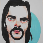 Nick Cave, Acrylic & marker On Paper, (18x13 cm).
