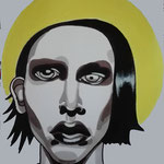 Marylin, Acrylic & marker On Paper, (18x13 cm).