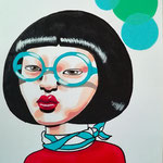 I'm Not Your Kawaii, Acrylic & marker On Paper, (18x13 cm).
